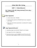 Desktop Publishing Online Web Catalog Project using Templates