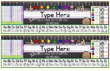 Desktop Reference Student Name Plates with Kid President Quotes
