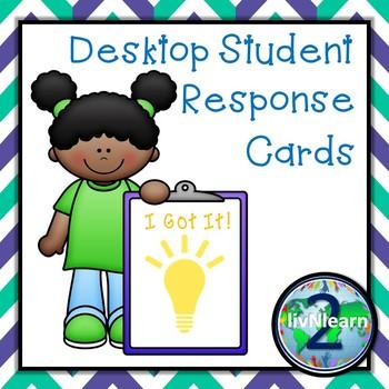 Desktop Student Response Cards FREEBIE!