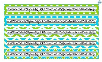 Desktop Tools Cursive-Turquoise and Lime