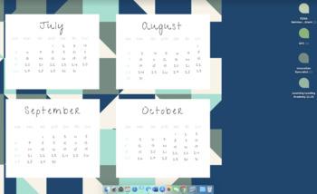Desktop Wallpaper   2020/2021 School Year Calendar   Abstract Blue