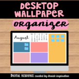 Desktop Wallpaper Organizer 12 months with Calendar