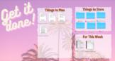 Desktop Wallpaper Organizer- Retro Palm Trees