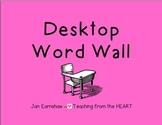 Desktop Word Wall