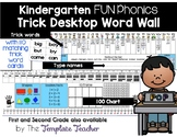 Desktop Word Wall & Math Helper Name Tag with FUN Phonics Kindergarten words