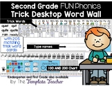 Desktop Word Wall & Math Helper Name Tag with FUN Phonics Second Grade words