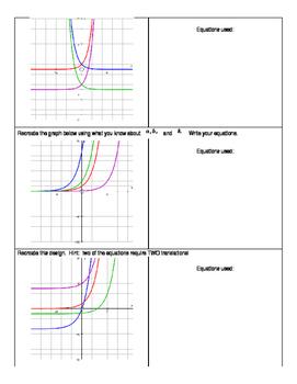 Desmos Exponential Function Transformation Review