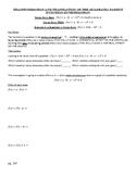 Desmos Investigation of the Quadratic Parent Funtion