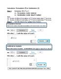 Desmos Permutation Combination Calculator Tricks