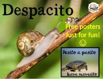 Despacito Spanish posters FREEBIE