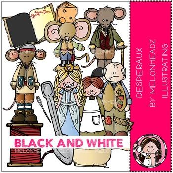 Melonheadz: Desperaux clip art - BLACK AND WHITE