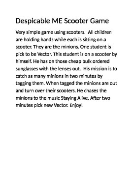 Despicable ME scooter game