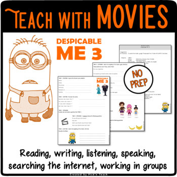 Despicable me teaching resources teachers pay teachers despicable me 3 movie trailer worksheet toneelgroepblik Image collections