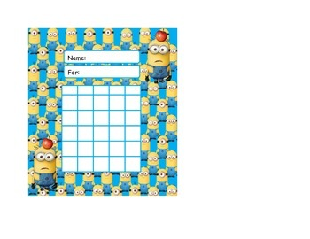 Despicable Me Minion Behavior Rewards Sticker Charts