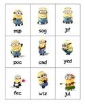 Despicable Me Minion CVC Nonsense Word Game