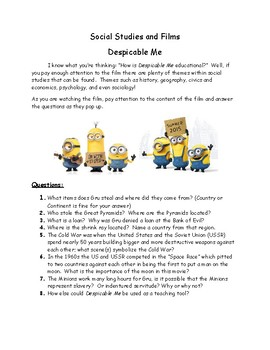 Despicable Me and Social Studies