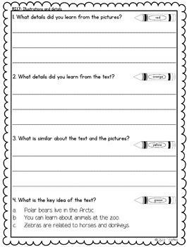 Desribe Key Ideas with Illustrations & Details- RI.1.7 (1st Grade)
