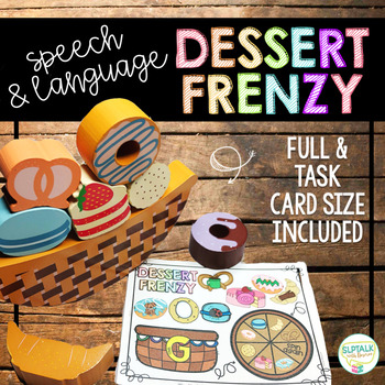 Dessert Frenzy Balance Game Companion for Speech Therapy