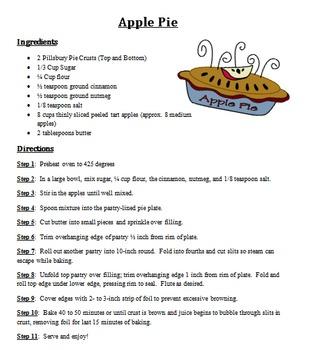 Dessert Recipes Set 1