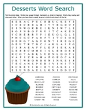 Desserts Word Search Puzzle