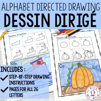 Dessin dirigé - Directed drawing for the French alphabet