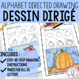 FRENCH Alphabet Directed Drawing - Dessin dirigé (alphabet