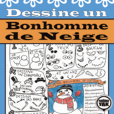 Dessine un Bonhomme de Neige or French Draw a Snowman