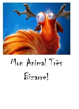 French animals, body parts and colors - Dessine un animal bizarre -
