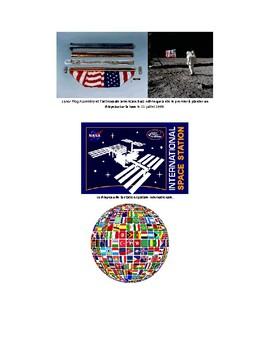 Dessine un drapeau pour la planète Mars avec des formes géométriques