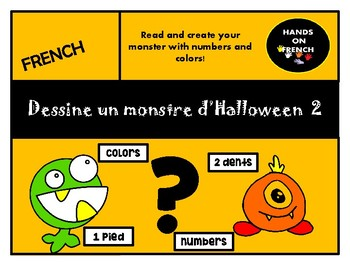 Dessine un monstre d'Halloween 2 - Drawing and counting book