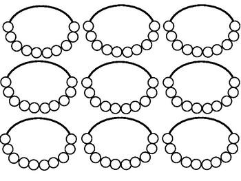 Dessins de colliers à 10 et 100 perles