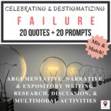 Destigmatizing Failure: 20 Quotes & 20 Prompts for Writing