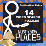 Destination Africa Word Search Packet: Must-Know Places (1