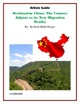 Destination China: Migration Policy  - Reading Article and Guide