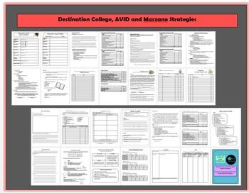 Destination College, AVID, &  Marzano Strategies