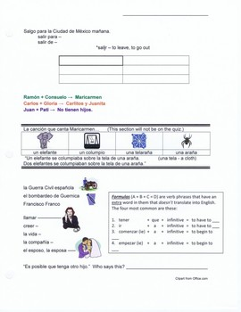 Destinos 2 worksheet