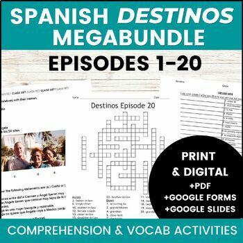 Destinos Bundle (Episodes 1-10) Zip Grade Listening Activity