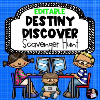 Editable Destiny Discover Scavenger Hunt