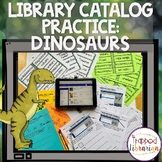 Library Catalog Practice   Dinosaur Edition