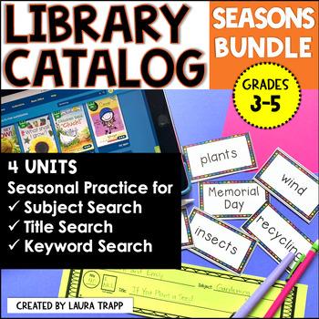 Destiny Library Catalog Practice: Seasons BUNDLE