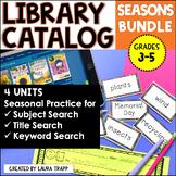 Library Catalog Practice   Seasons BUNDLE