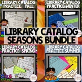 Library Catalog Practice | Seasons BUNDLE
