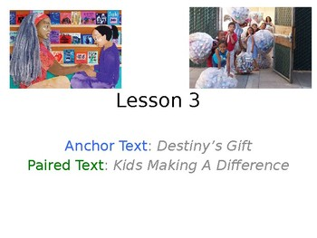 Destiny's Gift PowerPoint with Weekly Activities for Journeys 3rd Grade