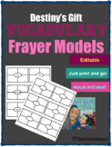 Destiny's Gift Vocabulary Frayer Models