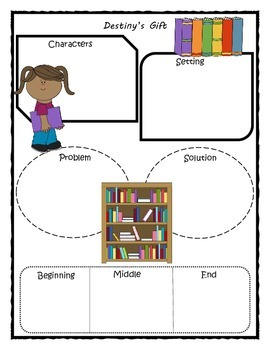Destiny's Gift Story Map Graphic Organizer