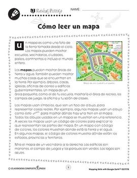 Destrezas cartográficas con Google Earth™: Cómo leer un mapa Gr. PK-2