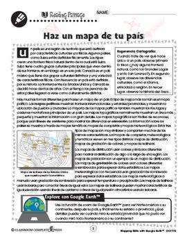 Destrezas cartográficas con Google Earth™: Haz un mapa de tu país Gr. 6-8