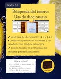 Destrezas de diccionario: Treasure Hunt Dictionary Skills- Spanish Immersion/ELE