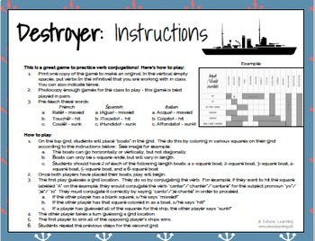 Destroyer - A Verb Conjugation Game - Practice Conjugating Any Tense - French