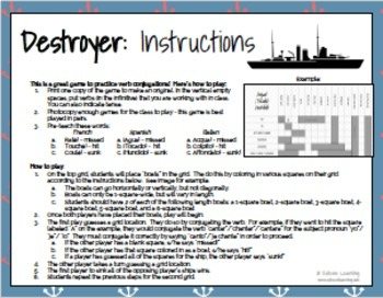 Destroyer - A Verb Conjugation Game - Practice Conjugating Any Tense - Italian